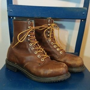 Redwing leather boots - steel toe
